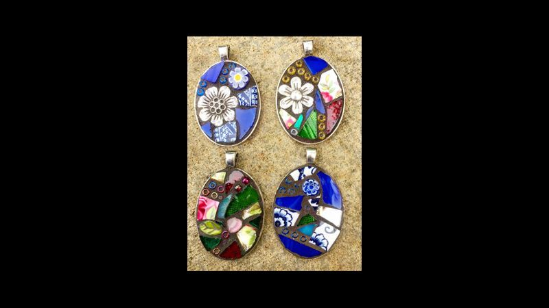 Mosaic Pendants in an afternoon