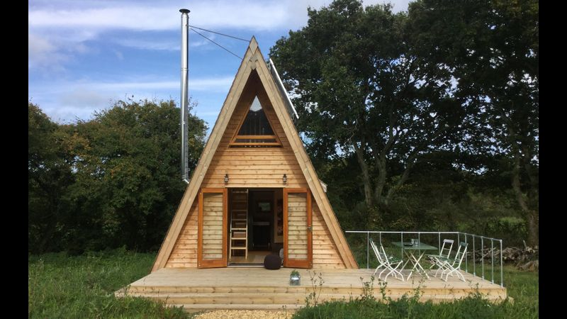 One of the Tiny Homes that you could  be staying in if you choose the residential option