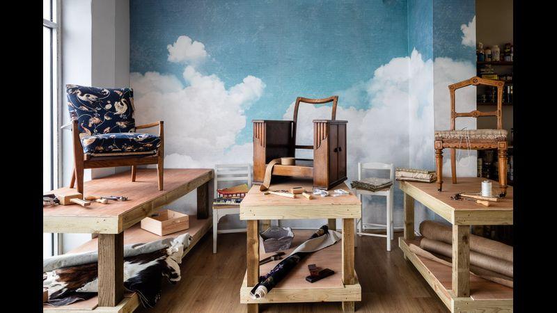 Creative upholstery studio in Cornwall
