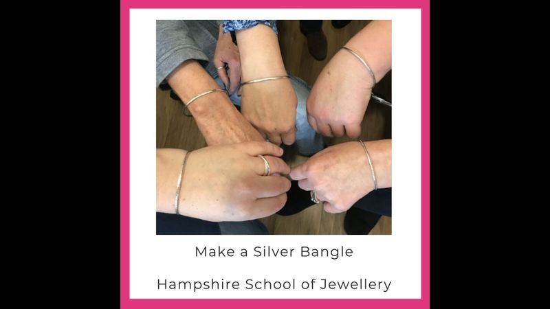 Make a silver bangle with Hampshire School of Jewellery