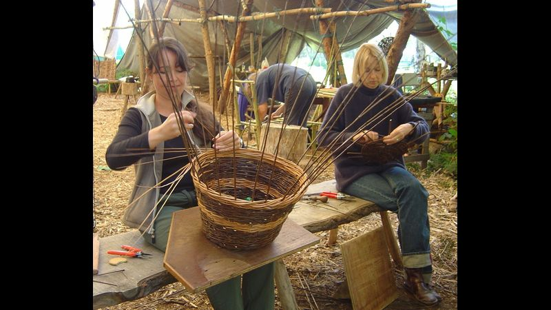 Basket making at Greenwood Days