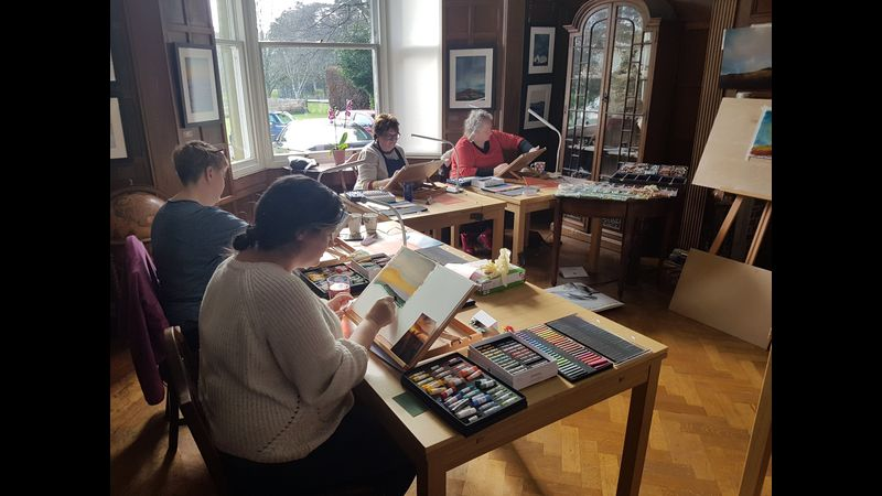 Workshop students in action