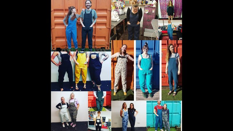 Dungaree Making Workshop with Twin Made in Cardiff - our patterns are unisex.