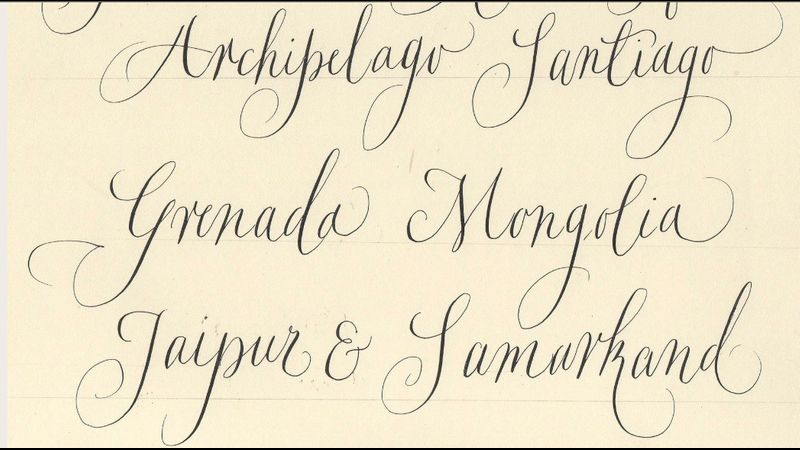 Beginners / Int Calligraphy inc modern with Gaynor Goffe  a Quirky Workshop , Greystoke, Cumbria