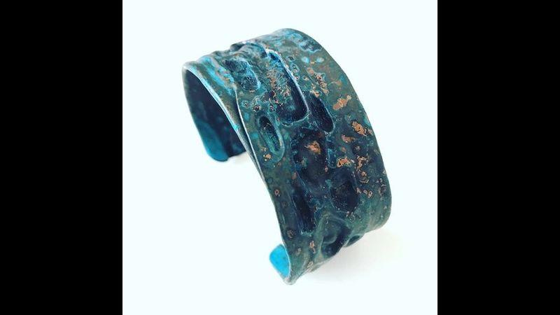 Fume-coloured Copper Bangle