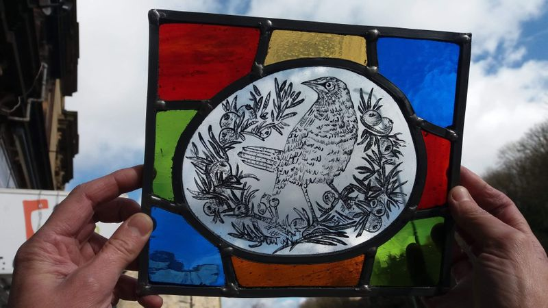 Student finished work of stained glass