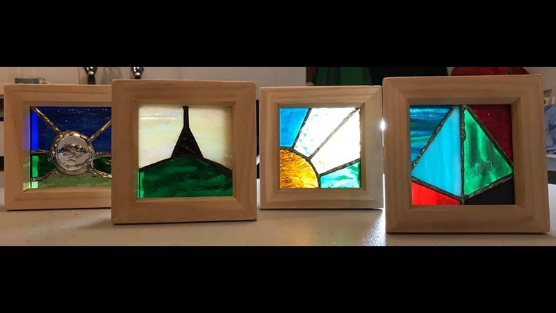 students stained glass examples