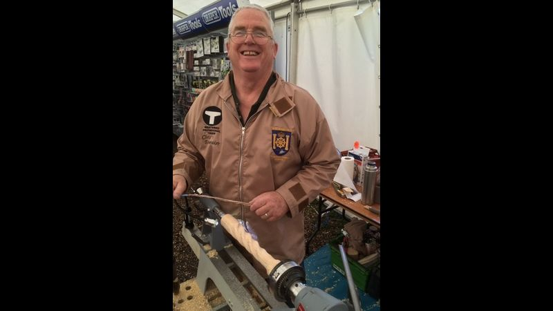 Demonstrating at Yandles' Woodworking Show