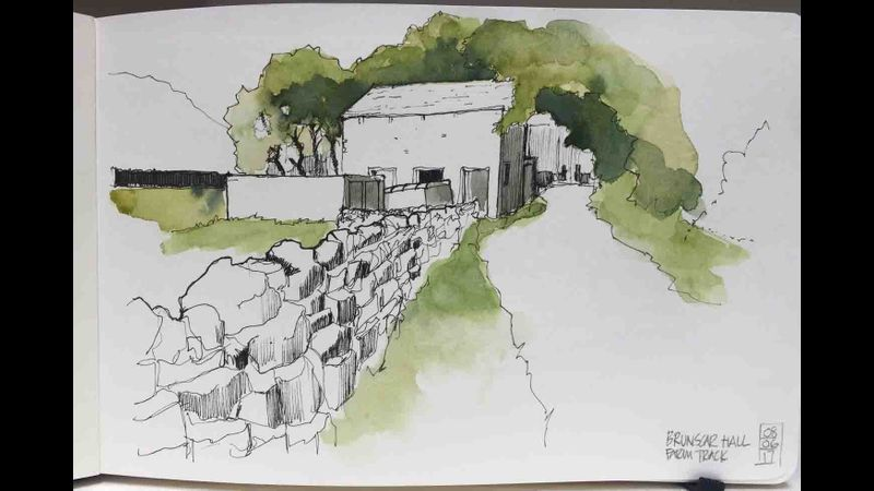 John Harrison's sketch of Brunscar Lane