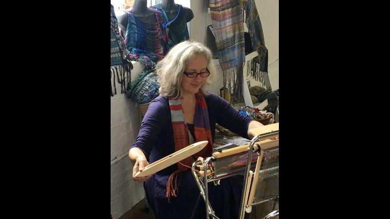 Amanda SAORI weaving instructor