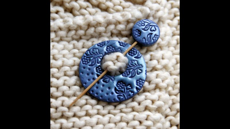 Learn how to create unique, textured shawl pins at West Country Creative, Lifton, Devon.