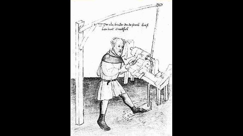 Medieval lathe