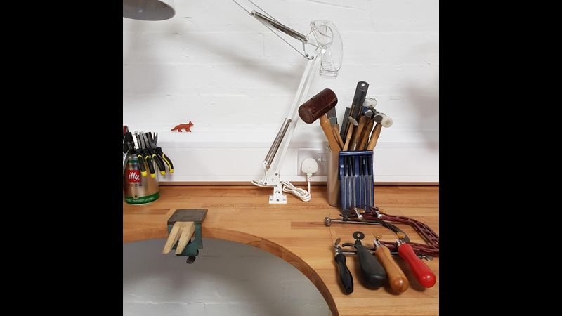 Jewellery workbench and some of the tools you need to make jewellery
