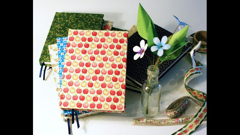 Learn to make your own hand bound hardback notebook
