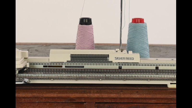 A domestic knitting machine that we will be using!