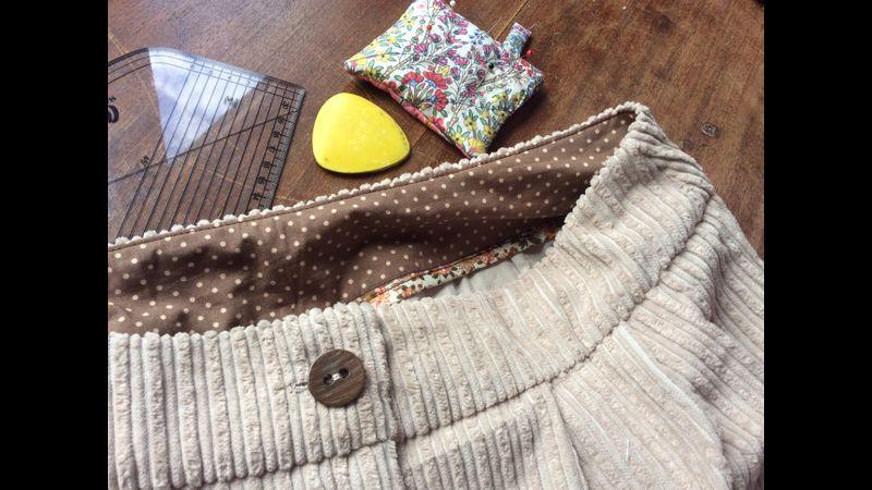 trouser waist detail