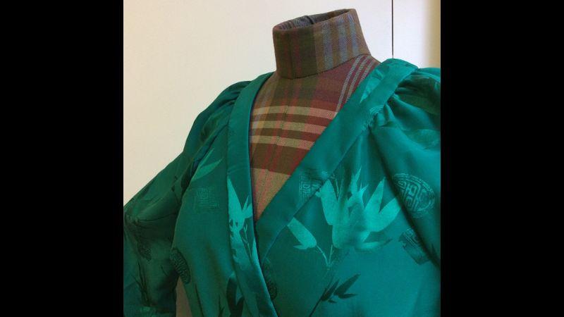 silk wrap dress, make clothes course Frome