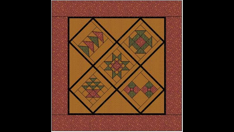 Beginner's Quilt as you go Sampler Green Man Quilts