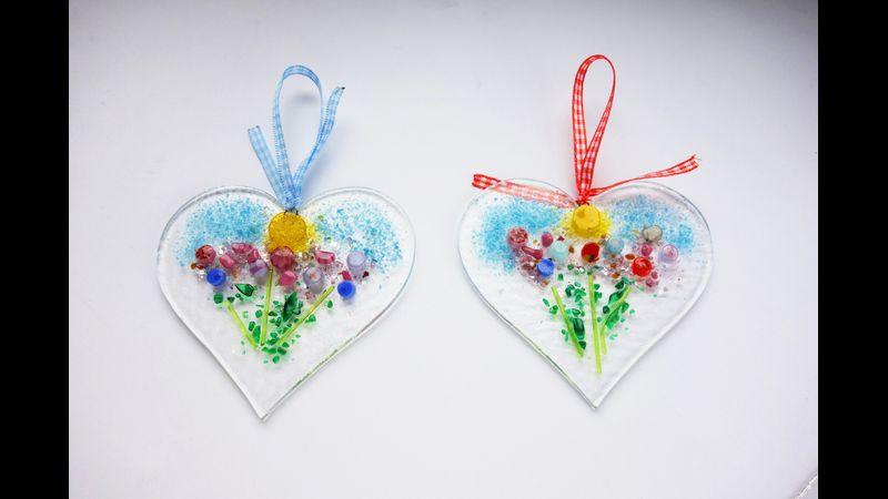 9cm heart meadow sun catcher ornament