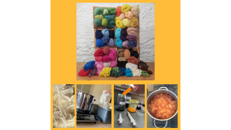 Wool Dyeing Colourful Permanent Dye in Repeatable Colours