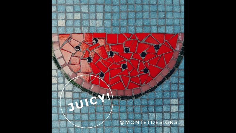 Juicy Red Watermelon Mosaic Kit