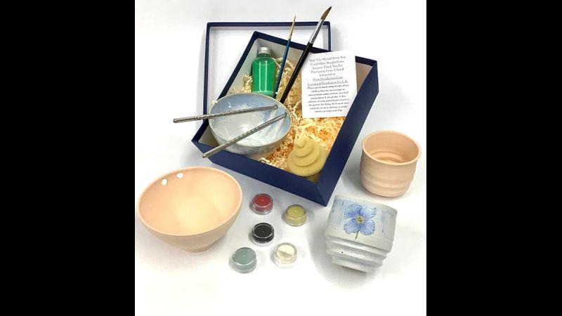 Stoneware Thrown Pot Glazing Kit