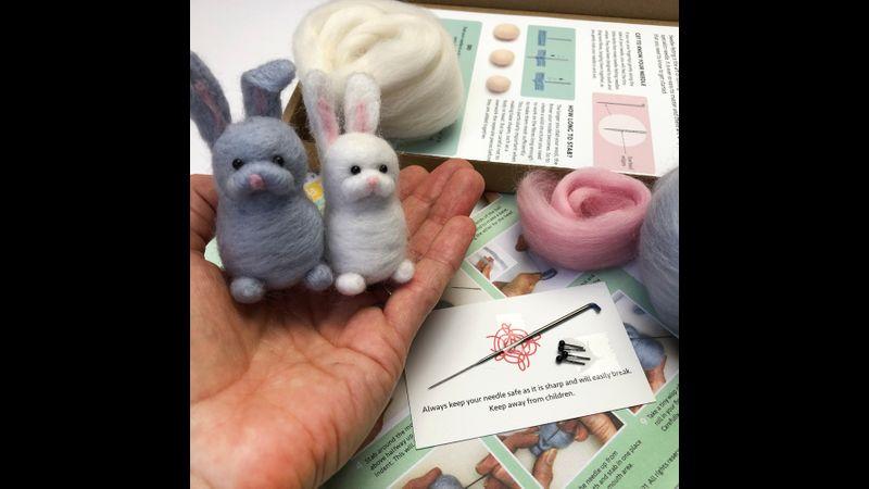 Needle Felted Rabbits Kit - Bergin & Bath