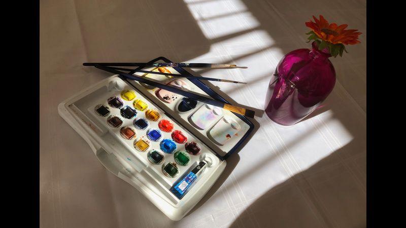 Watercolours & cream tea experience