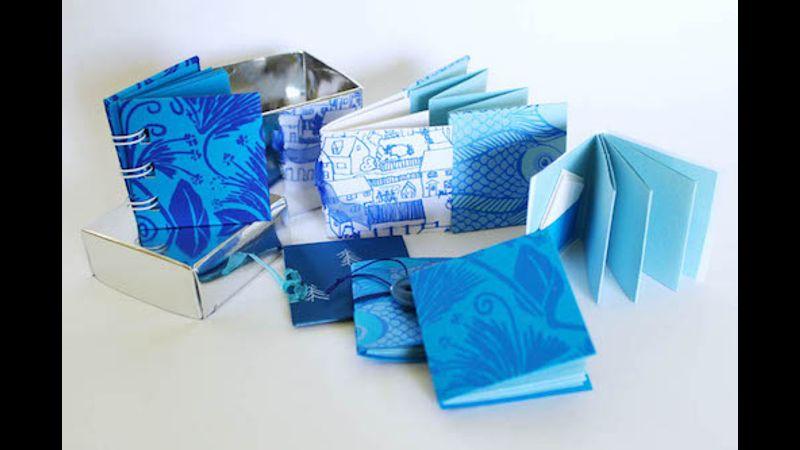Blue themed mini books