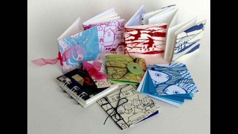 Colourful selection of mini books