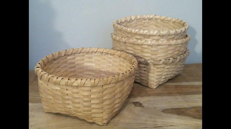 A beautiful ash splint basket