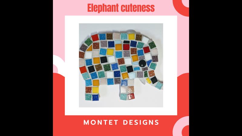 Multicoloured Elephant Mosaic