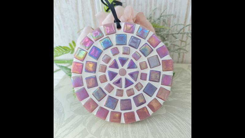 Pink Shiny Mosaic Coaster Kit
