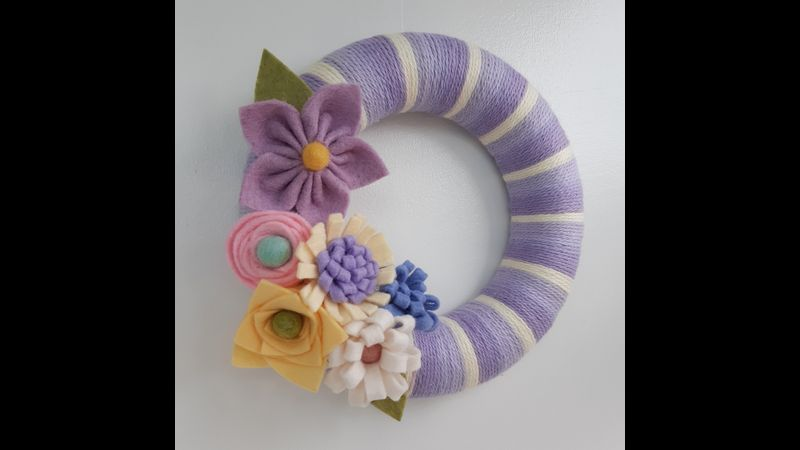 Spring Floral Wreath Tutorial