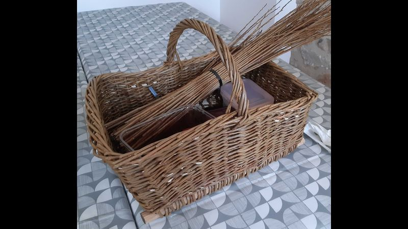 Square Basket with tapered sides