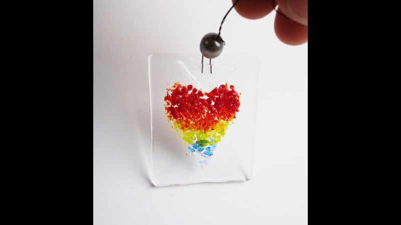 rainbow heart trio hanging kit to make at home