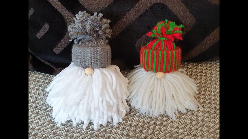 Two cute Santa tree decorations