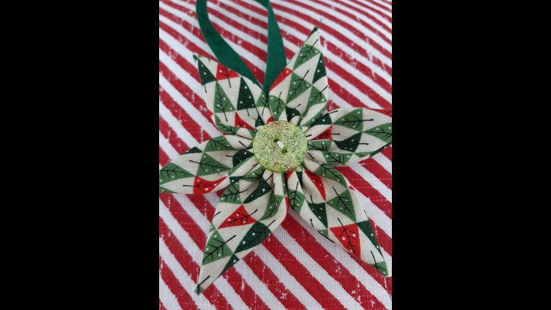Christmas Fabric Star Flower Decoration