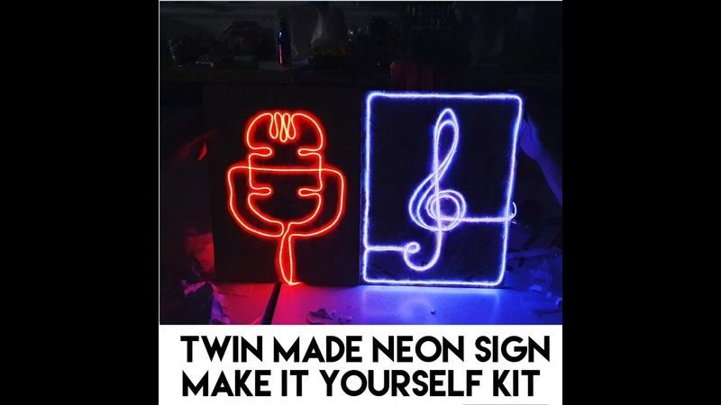 Twin Made Neon Sign Kit