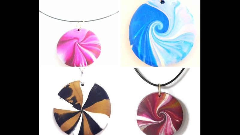Sample swirl pendants