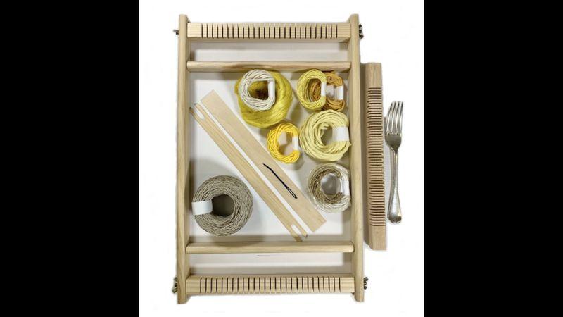 """Frame Loom Heddle Bar Weaving Kit """"Sunshine"""""""