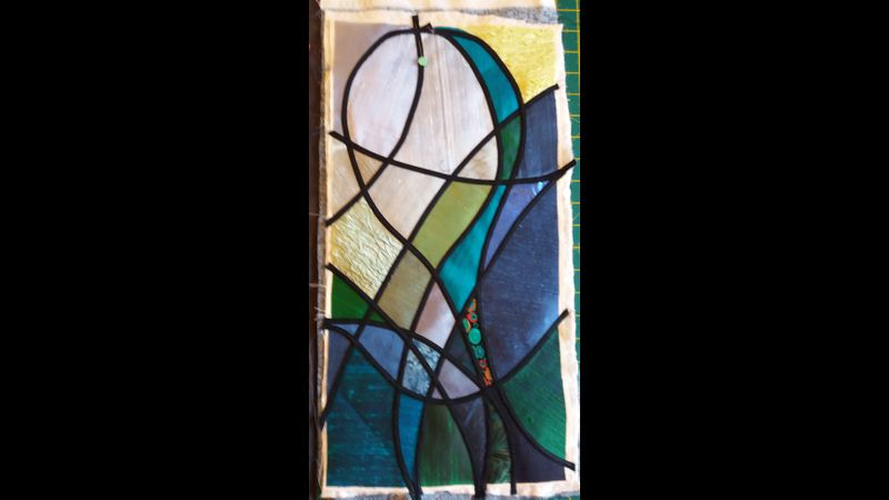 Simple Stained Glass  Green Man Quilts