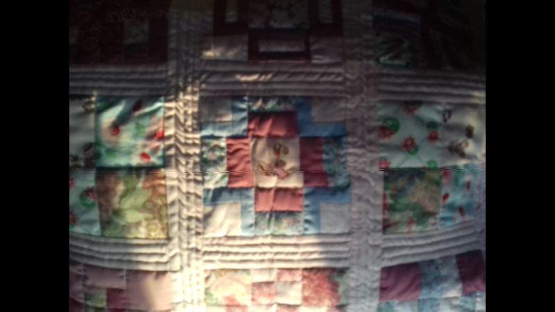 Sun Bonnet Sara Quilted Cushion
