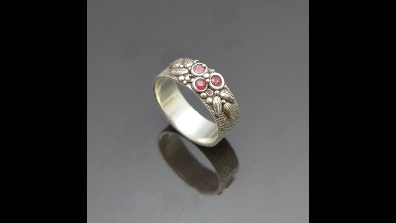 Woodland Berries Ring by Tracey Spurgin of Craftworx