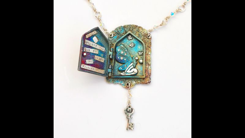 Fairy Doors Locket by Tracey Spurgin of Craftworx