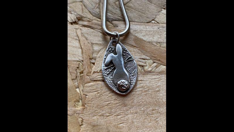 Silver Bunny Pendant