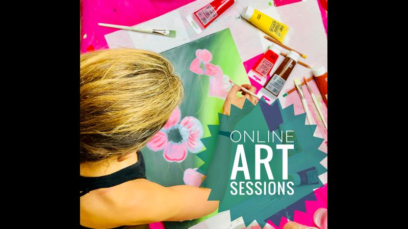 ONLINE art sessions with me, Deana Kim Page