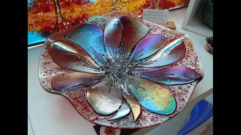 Fused Poppy Platter