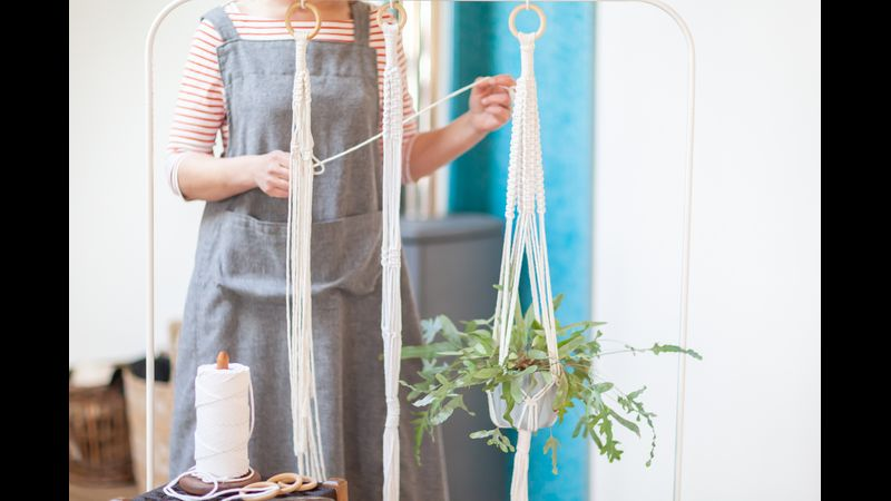 Mrs B will show you how to make one of these brilliant plant hangers