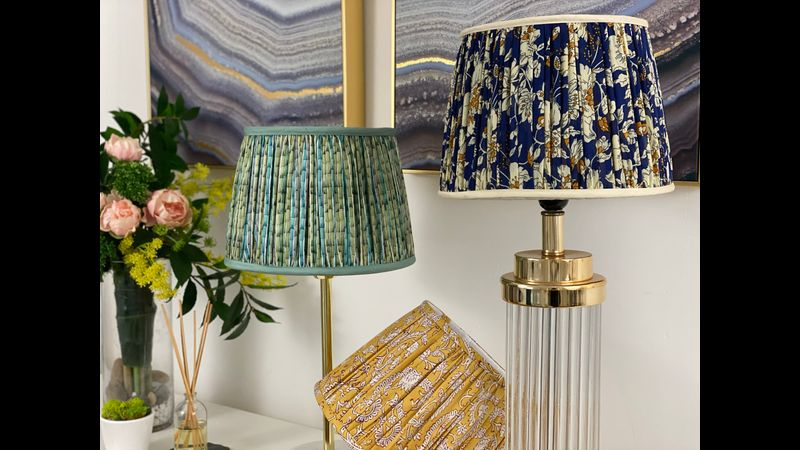 Gathered & pleated lampshades